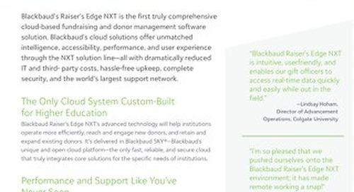Data Sheet: Raiser's Edge NXT for Higher Ed