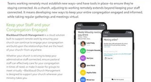 Church Management Remote Datasheet