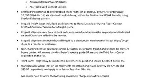 Bretford Channel Freight Policy 2020