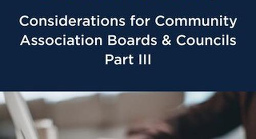 COVID-19 Webinar Summary - Part 3