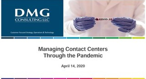 Managing Contact Centers Through the Pandemic