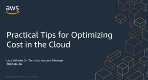 Practical Tips for Optimizing Cost in the Cloud_AWS Noridcs