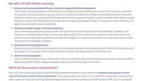 Benefits of LIVE Online Learning