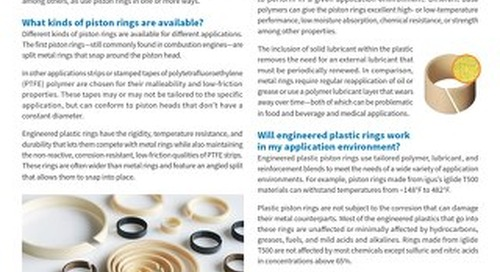 FAQ: Engineered Plastic Piston Rings