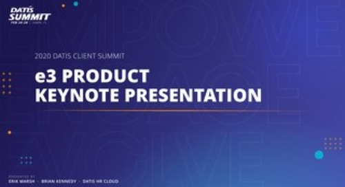 e3 Product Keynote: 2020 Roadmap Slides