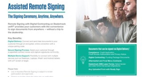 Assisted Remote Signing with Digital Delivery User Guide
