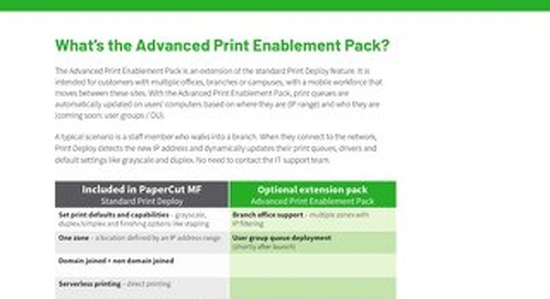 PaperCut Print Enablement Pack