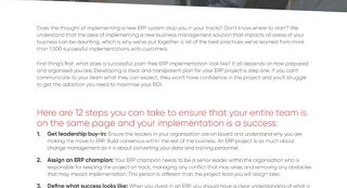UK - 12 Ways to Guarantee Pain-free ERP Implementation