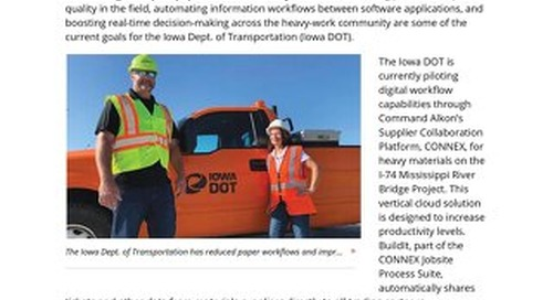 """Featured in ENR - """"Iowa DOT Digital Workflow Pilot Set to Become Agency Standard"""""""