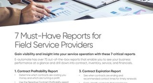 7 Must-Have Reports for Field Service Providers