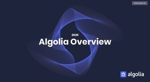 Introduction to Algolia