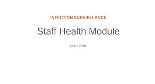 RL6: Infection Job Aid Staff Health