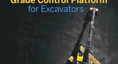 Trimble Earthworks Grade Control Platform for Excavators Datasheet - English