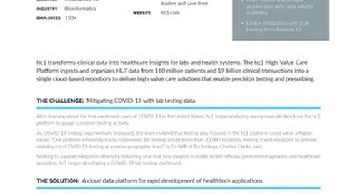 hc1 Builds Covid-19 Lab Testing Dashboard in 10 Days with Snowflake