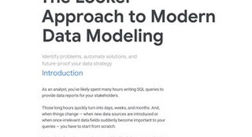 The Looker Approach to Modern Data Modeling