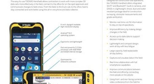 Trimble TDC600 Handheld Datasheet - English