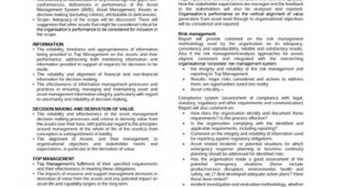 ISO 55001 Asset Management System Scheme Specific Requirements