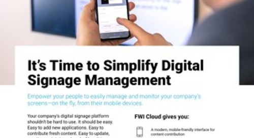 How FWI Cloud Simplifies Digital Signage Management