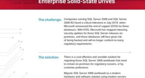 Improving SQL Server Performance and Costs with Kingston DC500M