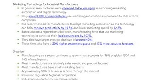 Digital Marketing for Manufacturers - Point of View
