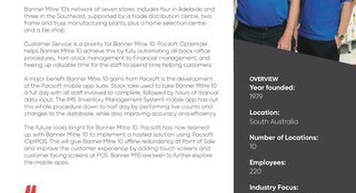 Banner Mitre 10 Pacsoft Customer Success Story