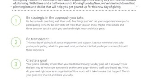 Tip Sheet: Turning a Giving Day into #GivingTuesdayNow