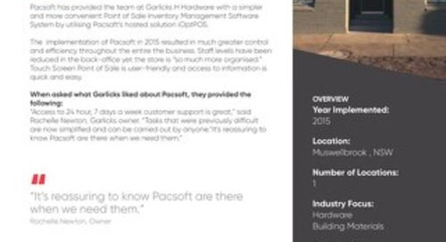 Garlicks H Hardware Customer Success Story