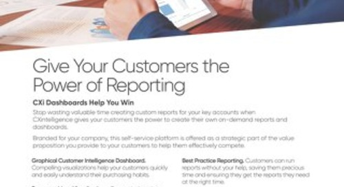 Give Your Customers the Power of Reporting