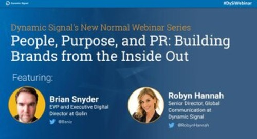 People, Purpose, and PR: Building Brands from the Inside Out