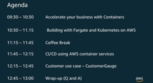 Containers May 7th: Introduction to ECS and EKS