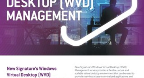 NS:GO Windows Virtual Desktop (WVD) Management 2020 Flyer