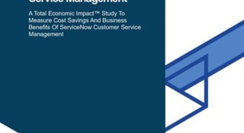 Total Economic Impact of ServiceNow CSM