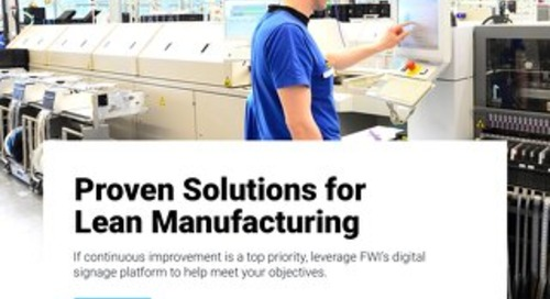 Learn About Digital Signage Solutions for Manufacturers