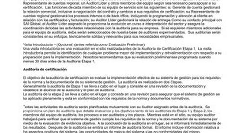 CERTFOR Sector Specific Scheme Requirements - Spanish