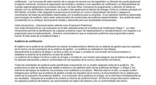SFI Sector Specific Scheme Requirements - Spanish