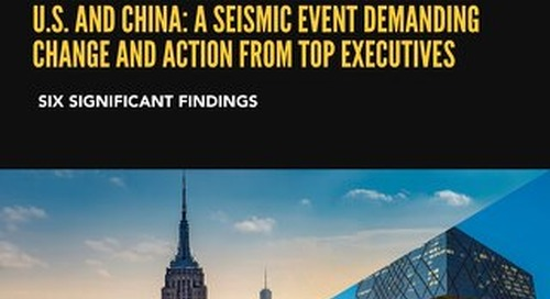 COVID-19 and Corporate Strategies in the U.S. and China: A Seismic Event Demanding Change and Action from Top Executives