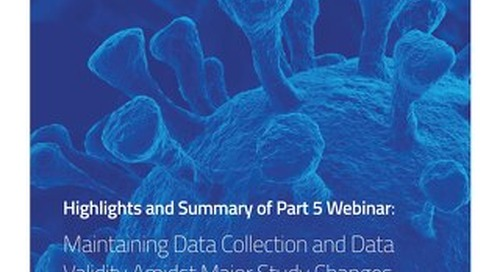 Part 5: Maintaining Data Collection and Data Validity Amidst Major Study Changes