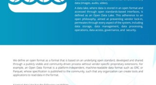 What is an Open Data Lake?