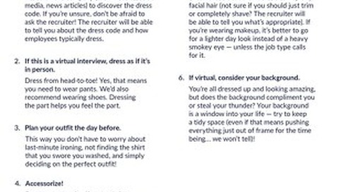 Dress for Success - Tips from CareerBuilder