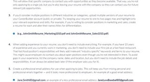 Critical Thinking for Job Seekers from CareerBuilder