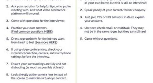 Virtual Interview Best Practices by CareerBuilder