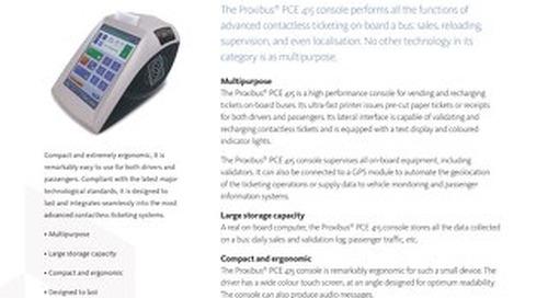 Proxibus® PCE 415 Console - Smart Ticketing