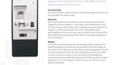 DAS400 - Compact Ticket Vending Machine