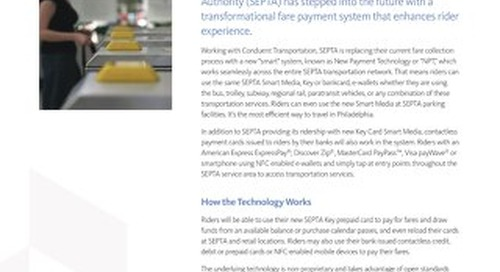 Case Study: SEPTA Introduces the Key Card Solution Using Open Payments