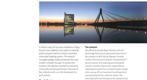 Case Study: Riga, Latvia,  Contactless Intermodal Ticketing System