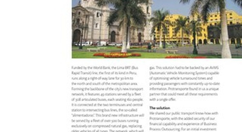 Case Study: Lima's Contactless Fare Collection, Geolocation and Passenger Information Systems