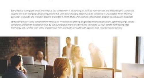 Strataware Service+ Medical Bill Review