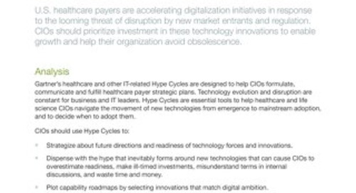 Gartner Research Report: Health Care Payer CIO Guide to the Industry's Technology Innovation Trends