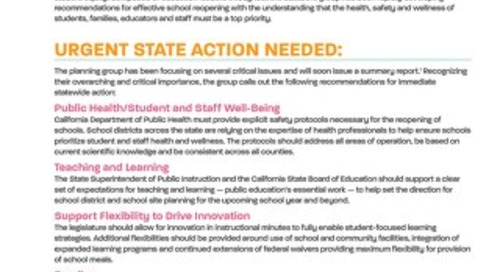 Call to Action - School Reopening