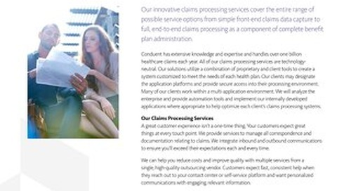 Payer Healthcare Claims Processing